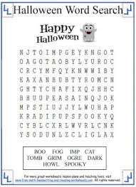 Halloween Multiplication Worksheets Coloring by Halloween Word Search Printable Activities