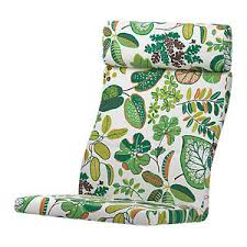Ikea Poang Chair Cover Green by Ikea Poang Cushion For Armchair Simmarp Green Leaf Pattern Poäng