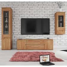 wohnzimmer schrankwand aus buche massivholz geölt 3 teilig