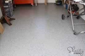 Rust Oleum Epoxyshield Garage Floor Coating Instructions by Easy Garage Floor Coating And A Giveaway Shanty 2 Chic