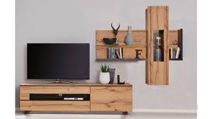 interliving wohnzimmer serie 2103 wohnwand 560001s schieferschwarzer lack asteiche dreiteilig breite ca 335 cm