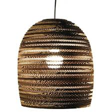 Laser Cut Lamp Shade by Laser Cut Corrugated Cardboard Pendant Lamp Recycled Materials