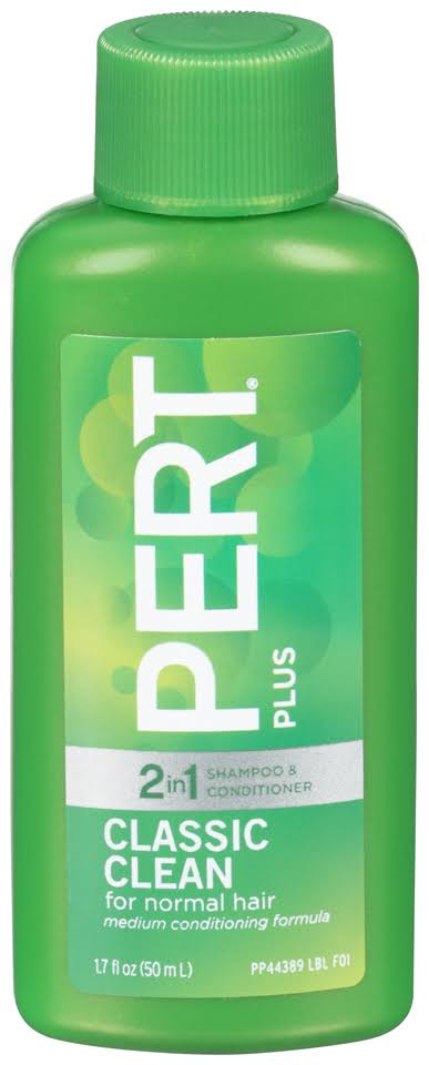 Pert Plus 2-in-1 Shampoo and Conditioner - Classic Clean, 1.70oz