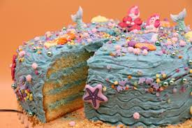 backset für meerjungfrau freunde torte