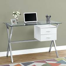 Glass And Metal Computer Desk With Drawers by Living Room Attractive Outstanding Contemporary Computer Desks
