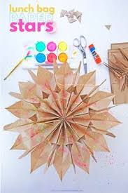 How To Make Paper Stars From Lunch Bags Crafts For KidsCrafts