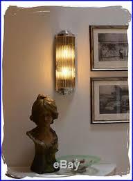 wall lights wandle kinoleuchte deco glasstäbe chrom kinoleuchte bauhaus wandleuchte home furniture diy itkart org