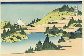 artmemo hokusai 36 vues du mont fuji le mont vu du lac hakone