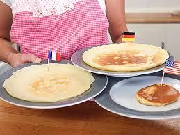 pfannkuchen crêpe und pancake