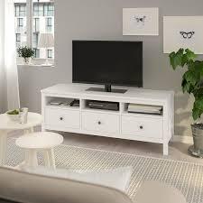 hemnes tv bank weiß gebeizt 148x47x57 cm ikea deutschland