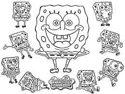 Spongebob Pumpkin Stencil by Cute Spongebob Coloring Pages Getcoloringpages Com
