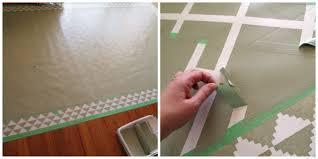 Remnant Vinyl Flooring Menards by Diy Dining Room Area Rug Painted Linoleum Reality Daydream
