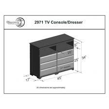 6 Drawer Dresser Black by Discovery World Furniture Merlot 6 Drawer Entertainment Dresser