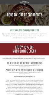 Carrabbas Coupons - 15% Off At Carrabbas, Or Online Via ... Tooled Up Promotional Code Hibachi Steakhouse Fairview Park Printable Home Depot Coupons 2018 Carrabbas Pin On Italian Grill Coupons Reginellis Coupon Ac Moore Deals Plus Italian Grill 15 Off Through March 31 In Store Best Buy Coupon Codes Blog Id Zone What Is Brickuponscom Uber 40 Promo Sudies Soul Circus Tickets North Coast 10 A Second Entree At Restaurant Bargains Discount Flowers Arabian Perfumes Where To Get Knotts Scary Farm Wicked Manila