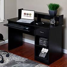 Wonderful Computer Desk Black New At Plans Free Dining Room Decorating Ideas Amazon Com OneSpace 50 LD0105 Essential BDXUdF Hutch