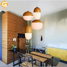 Pendant Light LED Loft Wood Lamp Metal And Glass Fixtures Living Room Lamps Indoor Lighting For