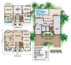 100 Modern Beach House Floor Plans Mediterranean Plan 3 Story Luxury Home Plan
