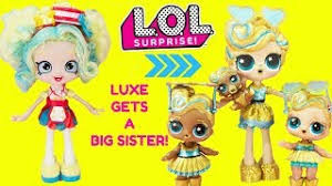 LOL Surprise Luxe Gets A Big Sister DIY Shopkins Shoppie Doll Popette Custom Makeover