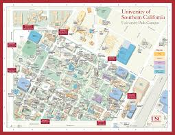 University Of Southern California Campus Map High Resolution Colleges And Universities
