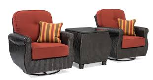 Breckenridge Red 3 Pc Patio Furniture Set: 2 Swivel Rockers&Side ... Generations Outdoor Wicker Swivel Rocker Ding Armchair Astoria Glider Summer Classics Fniture Elegant Bamboo Fniture Java Handmade Design Hanover Orleans Rocking Chair Set Of 2 In Lazboy Breckenridge Resin Piece Patio Brick Red With All Weather Sunbrella Cushions 3piece Allweather Chat Sahara Sand Waverly Yabird Lloyd Flanders Contempo Recliner Corvus Eolie 3piece Side Table Severn Lounge Sunbrite Sonoma Goods For Life Presidio