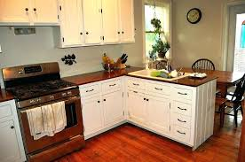 Linoleum Countertops Rustic Wood Kitchen Floor Brown