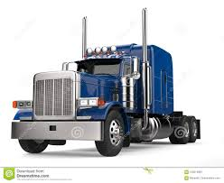 Blue 18 Wheeler Truck - No Trailer Stock Illustration - Illustration ...