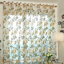 großhandel romantische tüll fenster vorhang für wohnzimmer burnout pfingstrose blumen perlen polyester gardinen transluzent hause dünne schattierung