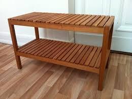 ikea molger bench 83 cm brown solid birch de