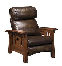Stickley Furniture Leather Colors by Stickley Furniture Tsuba Bustle Back Recliner The Mission Home