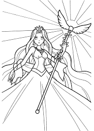Coloring Page Mermaid Melody Pichi Pitch Cartoons 52