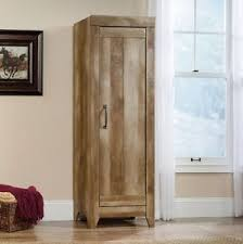 Image Is Loading Tall Narrow Storage Cabinet Rustic Country Cottage Style