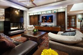 Wall Mounted Tv Cabinet Living Room Contemporary With Beige Sofa Built In Entertainment Center