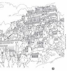 Cityscape Colouring Page