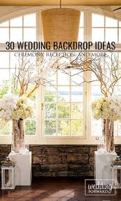 Elegant Rustic Wedding Backdrop Ideas