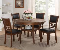 gia 5 piece dining room set brown new classic furniture