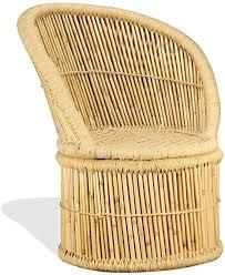 vidaxl bambusstuhl stuhl lounge sessel loungesessel relaxsessel wohnzimmer