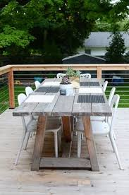 Diy Wooden Outdoor Furniture by Diy Furniture Restoration Hardware Inspired Outdoor Dining Table