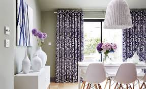 Blue Curtains Dining Room Grapeflower Berry 2