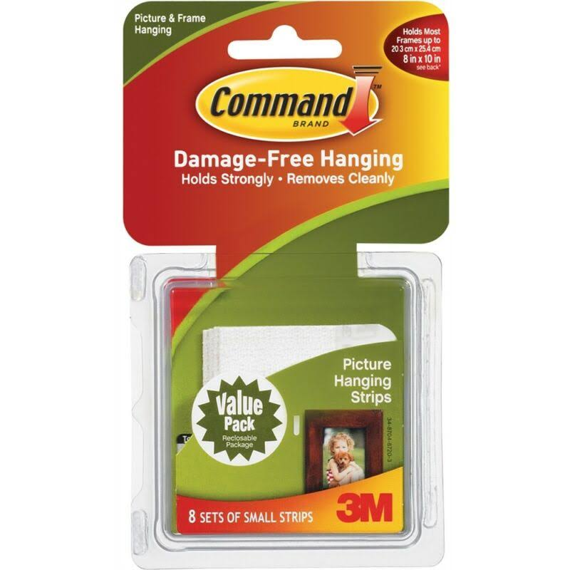 Command Picture Hanging Strips - White, 8 Pack