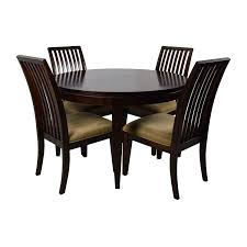 75% OFF - Macy's Macy's Bradford Extendable Dining Table With 4 Chairs /  Tables Quality Macys Fniture Ding Room Sets Astounding Macy Set Macys For Exotic Swanson Peterson 32510 Home Design Faux Top Cra Pedestal White Marble Corners New York Solid Wood Table 3 Chairs 20 Circle Inspiring Elegant Los Feliz And Chair Red 100 And Tables Altair 5pc 4 Download 8 Beautiful Inside