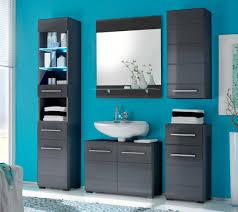 badezimmer chrome 5 tlg badmöbel komplett set grau metallic