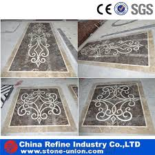 marble water jet tile light and brown emperador marble