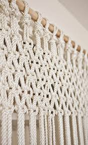 Fabric For Curtains Diy by Make Your Own Macrame Curtain U2013 A Beautiful Mess