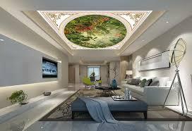 benutzerdefinierte 3d decke wandmalereien tropischen pflanzen große wandbilder wallpaper auf der decke 3d luxus tapete für badezimmer