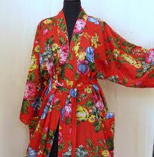 kimono robe de chambre en coton imprimé shalimar autres