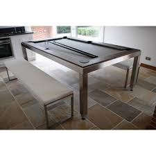 Dining Room Pool Table Combo by Aramith Fusion Pool Table Brushed Stainless Steel Greater Southern