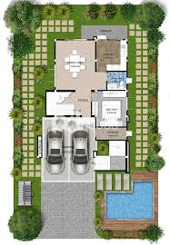 104 Contemporary House Design Plans Modern 11x20 5 With 4 Bedrooms Small