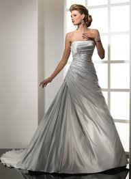 silver wedding dresses for beautiful bride wedding sunny