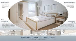 schlafzimmer komplett set e badile 4 teilig farbe kiefer weiß braun
