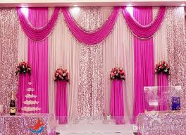 3m4m 3m6m 4m8m Ice Silk Wedding Backdrop Swag Party Curtain With Silver Sequin Fabric Drape Luxury Props Satin Diy Decor
